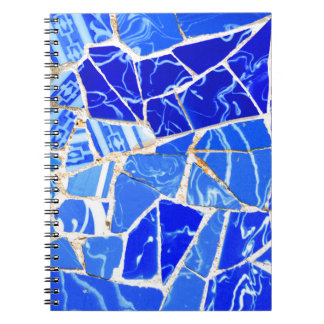 Abstract blue background notebook
