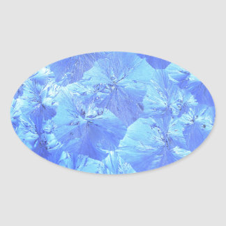 Abstract blue background oval sticker