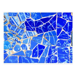 Abstract blue background postcard