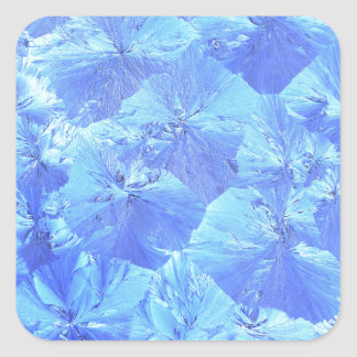 Abstract blue background square sticker