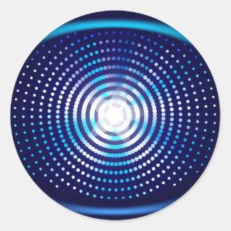 Abstract blue background round sticker