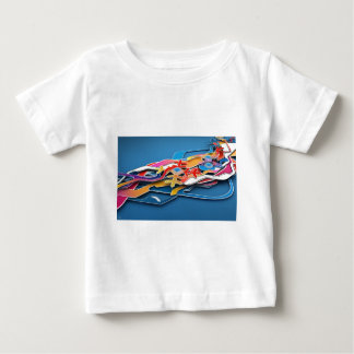 Abstract Blue Background Wild Colors All Around T-shirt