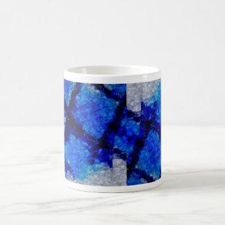 Abstract Blue Basic White Mug
