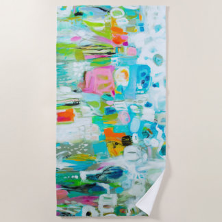 Abstract Blue Beach Towel
