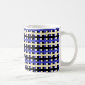 Abstract Blue, Beige and Black Coffee Mug