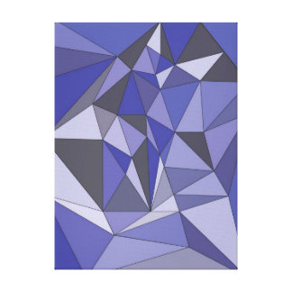 Abstract Blue Stretched Canvas Print