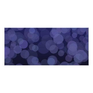 Abstract Blue Circles Rack Card Design