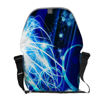 Abstract Blue Commuter Bag