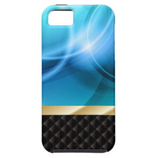 Abstract Blue Curves iPhone 5 Case