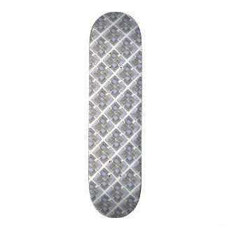 Abstract Blue Diamond Pattern 21.6 Cm Old School Skateboard Deck