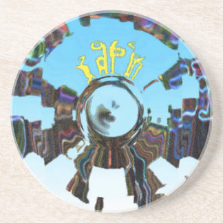Abstract Blue Drink Coaster