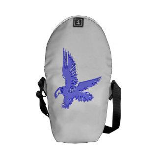 Abstract Blue Eagle Messenger Bag