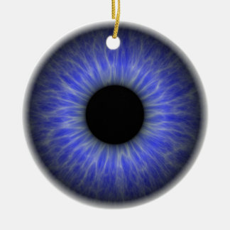 abstract blue eye ceramic ornament