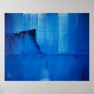 Abstract Blue Fair Head Irish Art Print