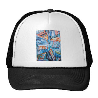 Abstract Blue Faults (abstract natural pattern) Cap