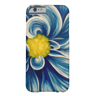 Abstract Blue Flower Barely There iPhone 6 Case