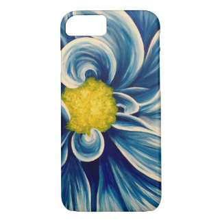 Abstract Blue Flower iPhone 7 Case