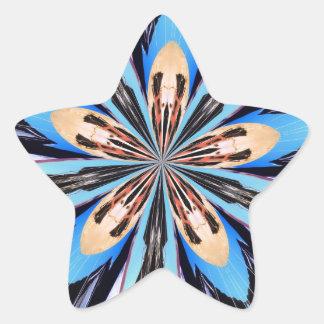 Abstract Blue Flower Petals Fractal Art Stickers