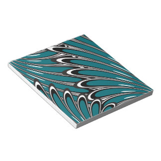 abstract blue flowers notepad
