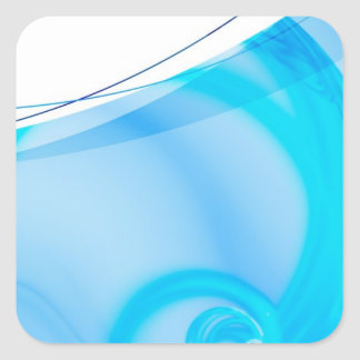 Abstract Blue Fractal Layout Stickers