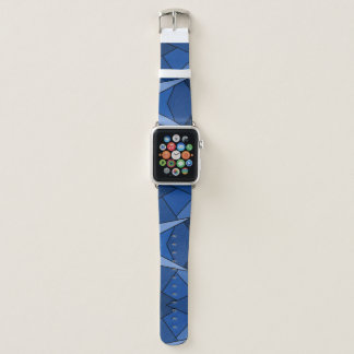 Abstract Blue Geometric Shapes Apple Watch Band