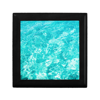 Abstract blue gift box