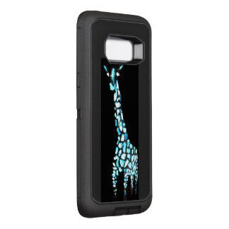 Abstract Blue Giraffe Funny Animal OtterBox Defender Samsung Galaxy S8+ Case