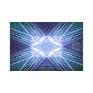 Abstract blue glowing star canvas prints