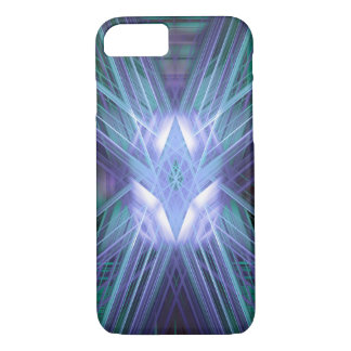 Abstract blue glowing star iPhone 7 case