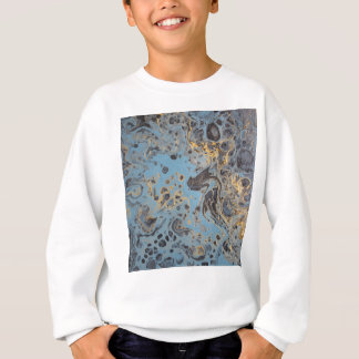 Abstract Blue & Gold Sweatshirt