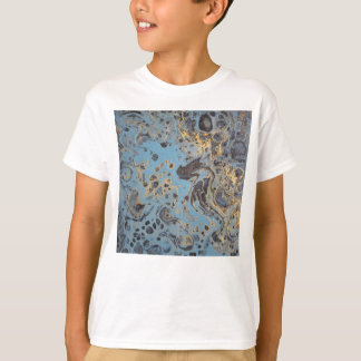Abstract Blue & Gold T-Shirt