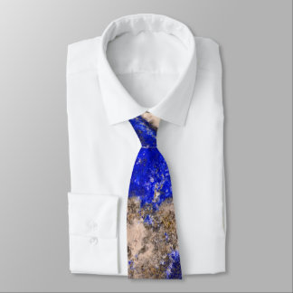 Abstract blue granite-marble tie
