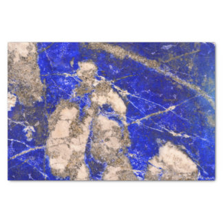 Abstract blue granite-marble tissue paper