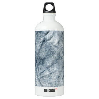 Abstract Blue Gray Chack Texture Water Bottle