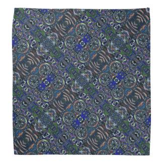 Abstract Blue Green Pattern Bandanna