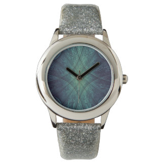 Abstract Blue Green Pattern Watches