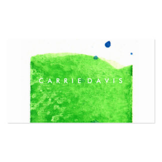 ABSTRACT BLUE GREEN WATERCOLOR SPLASH PACK OF STANDARD BUSINESS CARDS