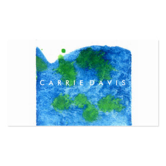 ABSTRACT BLUE GREEN WATERCOLOR SPLATTER PACK OF STANDARD BUSINESS CARDS