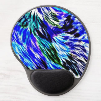 Abstract Blue Green White Purple Pattern Gel Mouse Pad