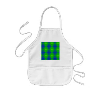 Abstract Blue Greens Kids Apron