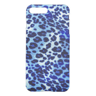 Abstract Blue Hipster Cheetah Animal iPhone 7 Plus Case