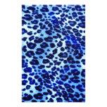 Abstract Blue Hipster Cheetah Animal Print