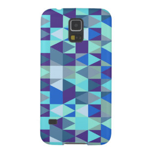 Abstract Blue Isometric Pattern Galaxy S5 Case