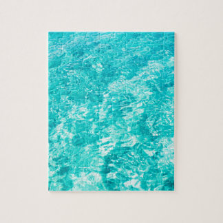 Abstract blue jigsaw puzzle