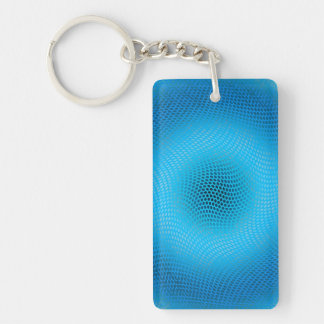 abstract blue mesh Double-Sided rectangular acrylic keychain