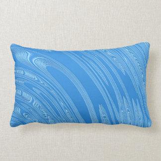 abstract blue metallic texture lumbar cushion