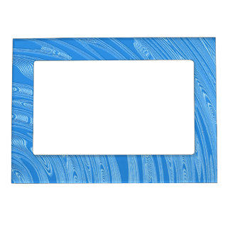 abstract blue metallic texture magnetic photo frame