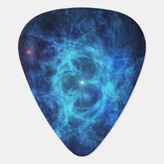 Abstract Blue Nebula Pick
