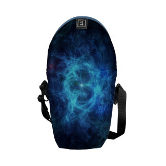 Abstract Blue Nebula Commuter Bags