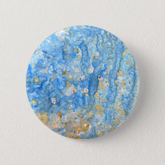 Abstract blue painting 6 cm round badge